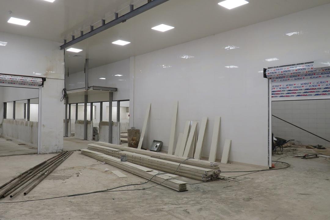 مراحل پایانی ساخت سالن جدید ضدعفونی کننده ها